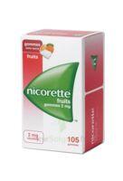Nicorette 2 mg Gomme à mâcher médicamenteuse sans sucre fruits Plq/105 à Ploermel