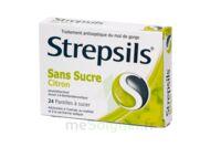 STREPSILS CITRON SANS SUCRE, pastille édulcorée à l'isomalt, au maltitol et à la saccharine sodique à Ploermel