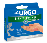 URGO BRULURES-BLESSURES PETIT FORMAT x 6 à Ploermel