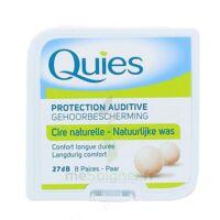 QUIES PROTECTION AUDITIVE CIRE NATURELLE 8 PAIRES à Ploermel