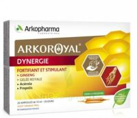 Arkoroyal Dynergie Ginseng Gelée royale Propolis Solution buvable 20 Ampoules/10ml à Ploermel