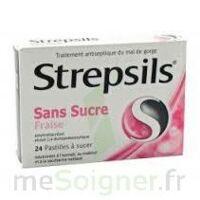 STREPSILS FRAISE SANS SUCRE, pastille édulcorée à l'isomalt, au maltitol et à la saccharine sodique à Ploermel