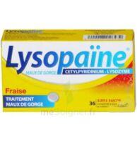 LYSOPAÏNE MAUX DE GORGE CETYLPYRIDINIUM LYSOZYME FRAISE SANS SUCRE, comprimé à sucer édulcoré au sorbitol et à la saccharine à Ploermel