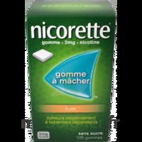 Nicorette 2 mg Gomme à mâcher médicamenteuse sans sucre fruits Plq/30 à Ploermel