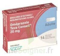 OMEPRAZOLE TEVA CONSEIL 20 mg Gél gastro-rés Plq/14 à Ploermel