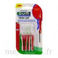 GUM TRAV - LER, 0,8 mm, manche rouge , blister 4 à Ploermel