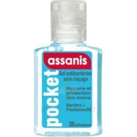Assanis Pocket Gel antibactérien mains 20ml à Ploermel