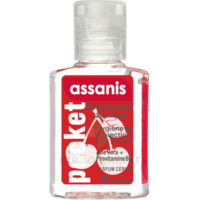 Assanis Pocket Parfumés Gel antibactérien mains cerise 20ml
