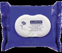 Klorane Soins des Yeux au Bleuet Lingette démaquillante biodégradable Pack/25 à Ploermel