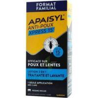 Apaisyl Anti-poux Xpress 15' Lotion antipoux et lente 100ml+peigne à Ploermel